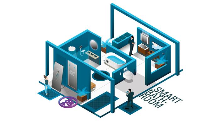 """Online-Fachmesse rund ums Bad: Innovative Technik optimiert im """"Smart Bathroom"""" die Nutzungsabläufe im Badezimmer"""
