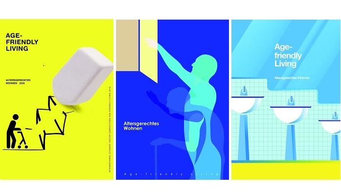 """1.,2. und 3. Platz des Plakatwettbewerbs """" Altersgerecht Wohnen """""""