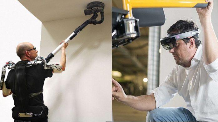 Exoskelett und Datenbrille