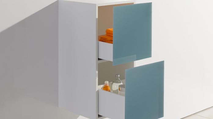 Sicherheit im Bad: Badmöbel mit Schubladen.