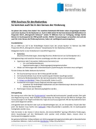 Publikationen Aktion Barrierefreies Bad