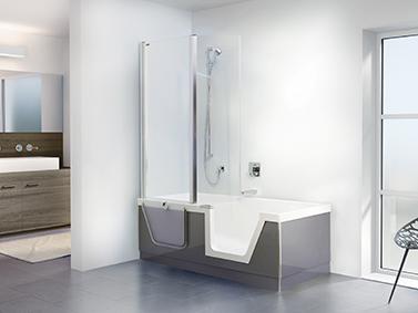 badewanne mit t reinsatz aktion barrierefreies bad. Black Bedroom Furniture Sets. Home Design Ideas