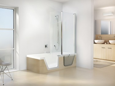 begehbare badewanne aktion barrierefreies. Black Bedroom Furniture Sets. Home Design Ideas