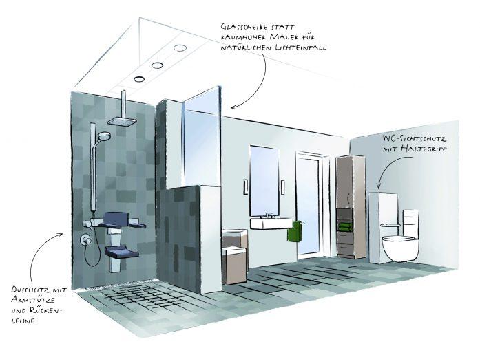 b der f rs ganze leben aktion barrierefreies bad. Black Bedroom Furniture Sets. Home Design Ideas