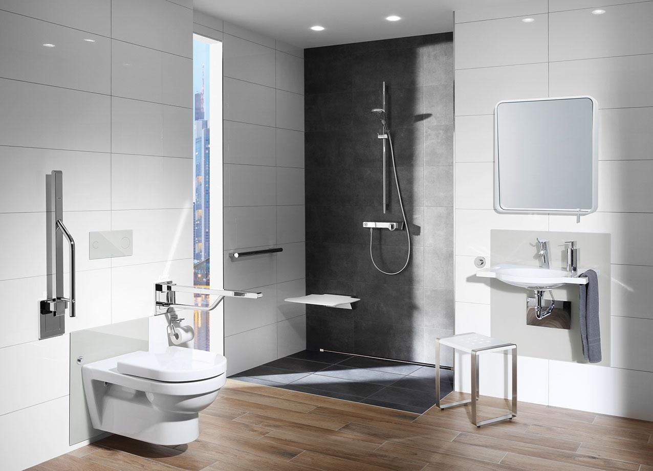 die barrierefreie badgestaltung beginnt bei der. Black Bedroom Furniture Sets. Home Design Ideas