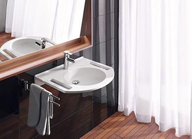unterfahrbarer waschtisch aktion barrierefreies bad. Black Bedroom Furniture Sets. Home Design Ideas